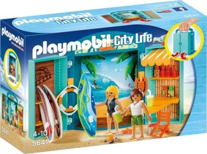 PLAYMOBIL CITY LIFE PLAY BOX SURF SHOP (5641)