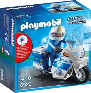 Playmobil City Action – Μοτοσικλέτα Αστυνομίας Με Φάρο Που Αναβοσβήνει 6923