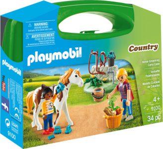 Playmobil Country Βαλιτσάκι Φροντίζοντας Τα Άλογα (9100)