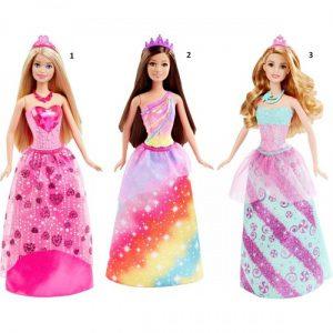 Barbie Πριγκίπισσα-3 Σχέδια (DHM49)
