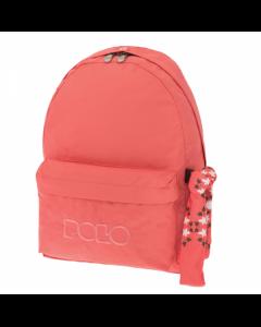 Polo Original Τσάντα Πλάτης Με Μαντήλι Κοραλί 2018 9-01-135-43+ Δώρο Διορθωτική Ταινία Edding