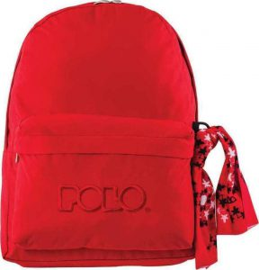 Polo Double Τσάντα Πλάτης Με Μαντήλι Κόκκινη 2020 9-01-235-03+ Δώρο Διορθωτική Ταινία Edding