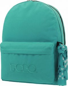 Polo Double Τσάντα Πλάτης Με Μαντήλι Τιρκουάζ 2019 9-01-235-25+ Δώρο Διορθωτική Ταινία Edding