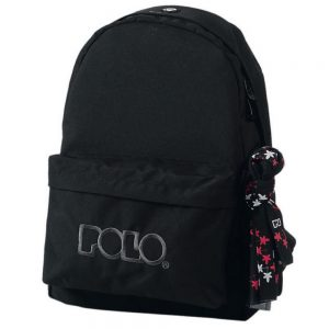 Polo Original Τσάντα Πλάτης Με Μαντήλι Μαύρο 2020 9-01-135-02 + Δώρο Διορθωτική Ταινία Edding