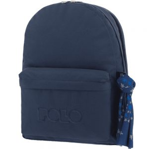 Polo Double Τσάντα Πλάτης Με Μαντήλι Μπλε 2020 9-01-235-05+ Δώρο Διορθωτική Ταινία Edding