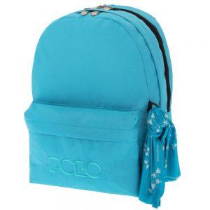 Polo Double Τσάντα Πλάτης Με Μαντήλι Γαλάζιο 2018 9-01-235-17+ Δώρο Διορθωτική Ταινία Edding