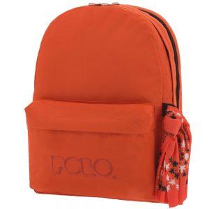 Polo Double Τσάντα Πλάτης Με Μαντήλι Πορτοκαλί 2019 9-01-235-14+ Δώρο Διορθωτική Ταινία Edding