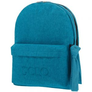 Polo Double Τσάντα Πλάτης Με Μαντήλι Γαλάζιο 2019 9-01-235-83+ Δώρο Διορθωτική Ταινία Edding