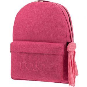 Polo Double Τσάντα Πλάτης Με Μαντήλι Φούξια 2019 9-01-235-84+ Δώρο Διορθωτική Ταινία Edding
