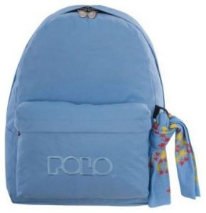 Polo Original Τσάντα Πλάτης Με Μαντήλι Ανοικτό Γαλάζιο 2017 9-01-135-17+ Δώρο Διορθωτική Ταινία Edding