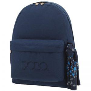 Polo Original Τσάντα Πλάτης Με Μαντήλι Σκούρο Μπλε 2020 9-01-135-05+ Δώρο Διορθωτική Ταινία Edding