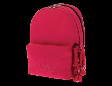 Polo Double Τσάντα Πλάτης Με Μαντήλι Φούξια 2019 9-01-235-19+ Δώρο Διορθωτική Ταινία Edding