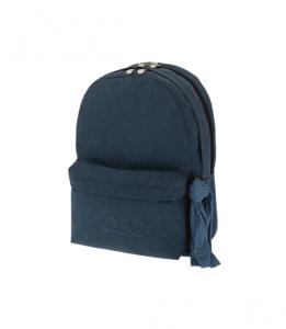 Polo Double Τσάντα Πλάτης Με Μαντήλι Τζιν Μπλε 2018 9-01-235-93A+ Δώρο Διορθωτική Ταινία Edding