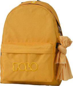 Polo Original Τσάντα Πλάτης Με Μαντήλι Καρό Κίτρινο 2018 9-01-135-81+ Δώρο Διορθωτική Ταινία Edding