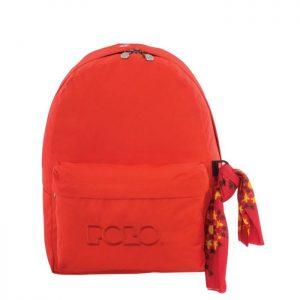 Polo Original Τσάντα Πλάτης Με Μαντήλι Πορτοκαλί 2019 9-01-135-43A+ Δώρο Διορθωτική Ταινία Edding
