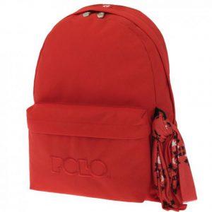 Polo Original Τσάντα Πλάτης Με Μαντήλι Κοραλί 2019 9-01-135-14+ Δώρο Διορθωτική Ταινία Edding