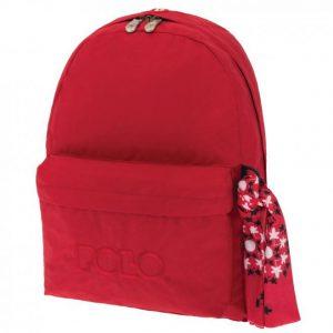 Polo Original Τσάντα Πλάτης Με Μαντήλι Κόκκινη 2020 9-01-135-03+ Δώρο Διορθωτική Ταινία Edding