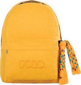 Polo Original Τσάντα Πλάτης Με Μαντήλι Κίτρινο Σκούρο 2017 9-01-135-34+ Δώρο Διορθωτική Ταινία Edding