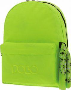 Polo Double Τσάντα Πλάτης Με Μαντήλι Κίτρινο Fluo 2019 9-01-235-27+ Δώρο Διορθωτική Ταινία Edding