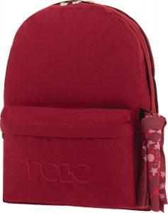 Polo Double Τσάντα Πλάτης Με Μαντήλι Μπορντό 2019 9-01-235-30+ Δώρο Διορθωτική Ταινία Edding