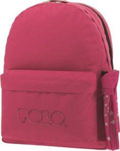 Polo Double Τσάντα Πλάτης Με Μαντήλι Φούξια 2019 9-01-235-29B+ Δώρο Διορθωτική Ταινία Edding