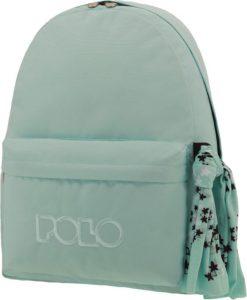 Polo Original Τσάντα Πλάτης Με Μαντήλι Γκρι – Σιέλ 2019 9-01-135-17A+ Δώρο Διορθωτική Ταινία Edding