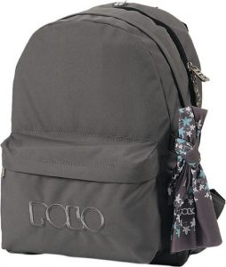 Polo Double Τσάντα Πλάτης Με Μαντήλι Γκρι 2017 9-01-235-09+ Δώρο Διορθωτική Ταινία Edding
