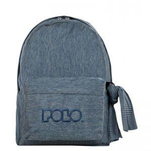 Polo Double Τσάντα Πλάτης Με Μαντήλι Τζιν Μπλε 2018 9-01-235-92A+ Δώρο Διορθωτική Ταινία Edding