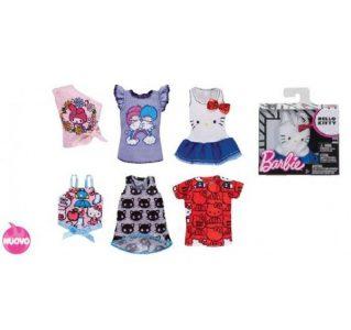Mattel Barbie Hello Kitty Μπλούζες-5 Σχέδια FLP40