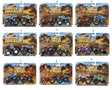 Mattel Hot Wheels Monster Trucks Οχήματα Σετ Των 2 – 7 Σχέδια (FYJ64)