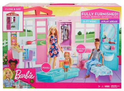 Mattel Barbie – Σπιτάκι Βαλιτσάκι FXG54