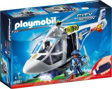 Playmobil City Action – Ελικόπτερο Αστυνομίας Με Προβολέα LED 6921