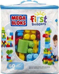 Fisher Price Mega Bloks Τουβλάκια Τσάντα 60 Τεμάχια Mattel (DCH55)