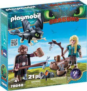 Playmobil Dragons – Ο Ψάρης Και Η Άστριντ Με Ένα Δρακούλη 70040