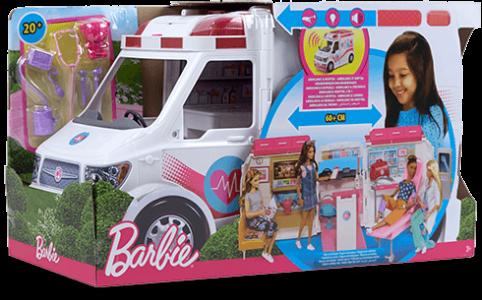 Mattel Barbie Κινητό Ιατρείο-Ασθενοφόρο (FRM19)