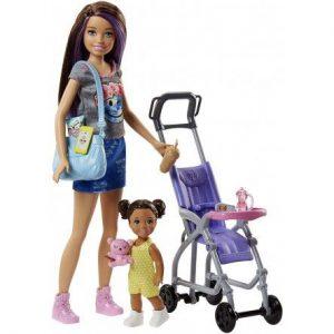 Mattel Barbie Σκίπερ Βόλτα Με Το Μωρό FJB00