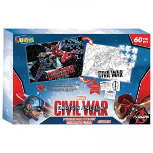 Luna Puzzle Χρωματισμού 60 Pcs Captain America 500786