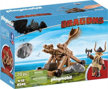 Playmobil Dragons Ο Σκόρδος Με Καταπέλτη (9245)