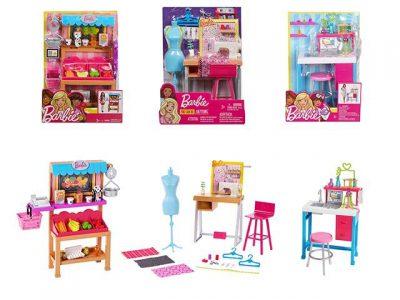 Mattel Barbie Επαγγέλματα Σετ Έπιπλα-3 Σχέδια (FJB25)