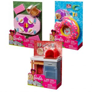 Mattel Barbie Έπιπλα Εξωτερικού Χώρου – 3 Σχέδια FXG37
