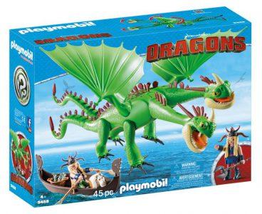Playmobil Dragons – Ο Πετρας Και Η Πετρα Με Δικεφαλο Δρακο Ρεψιμο Και Αναγουλα 9458