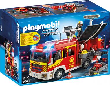 Playmobil – Πυροσβεστικό Όχημα με Φάρο & Σειρήνα 5363