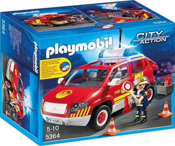 Playmobil Όχημα Αρχιπύραρχου Με Φάρο + Σειρήνα (5364)