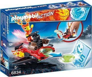 Playmobil Action Firefighter Με Εκτοξευτή Δίσκων 6834