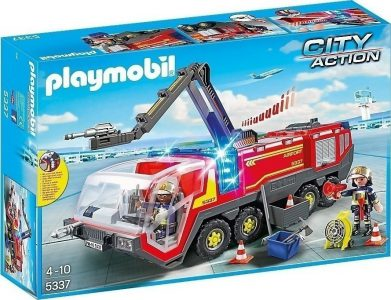 Playmobil City Action Πυροσβεστικό Όχημα Αεροδρομίου Με Φώτα Και Ήχο 5337