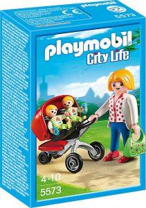 Playmobil City Life Μαμά Με Δίδυμα & Καροτσάκι (5573)