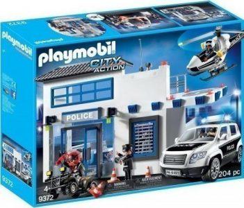 Playmobil Αστυνομικό Τμήμα Με Περιπολικό & Ελικόπτερο (9372)