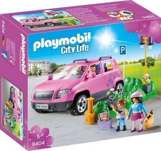 Playmobil City Life Οικογενειακό Αμάξι & Υπαίθριος Χώρος Στάθμευσης (9404)
