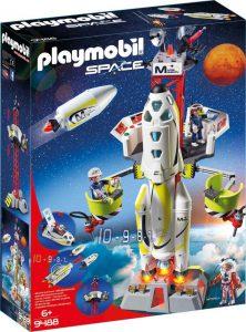 Playmobil Space – Πύραυλος Διαστημικής Αποστολής Με Σταθμό Εκτόξευσης 9488