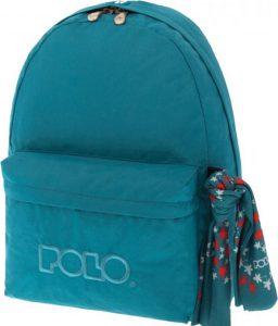 Polo Original Τσάντα Πλάτης Με Μαντήλι Πετρόλ 2018 9-01-135-55+ Δώρο Διορθωτική Ταινία Edding